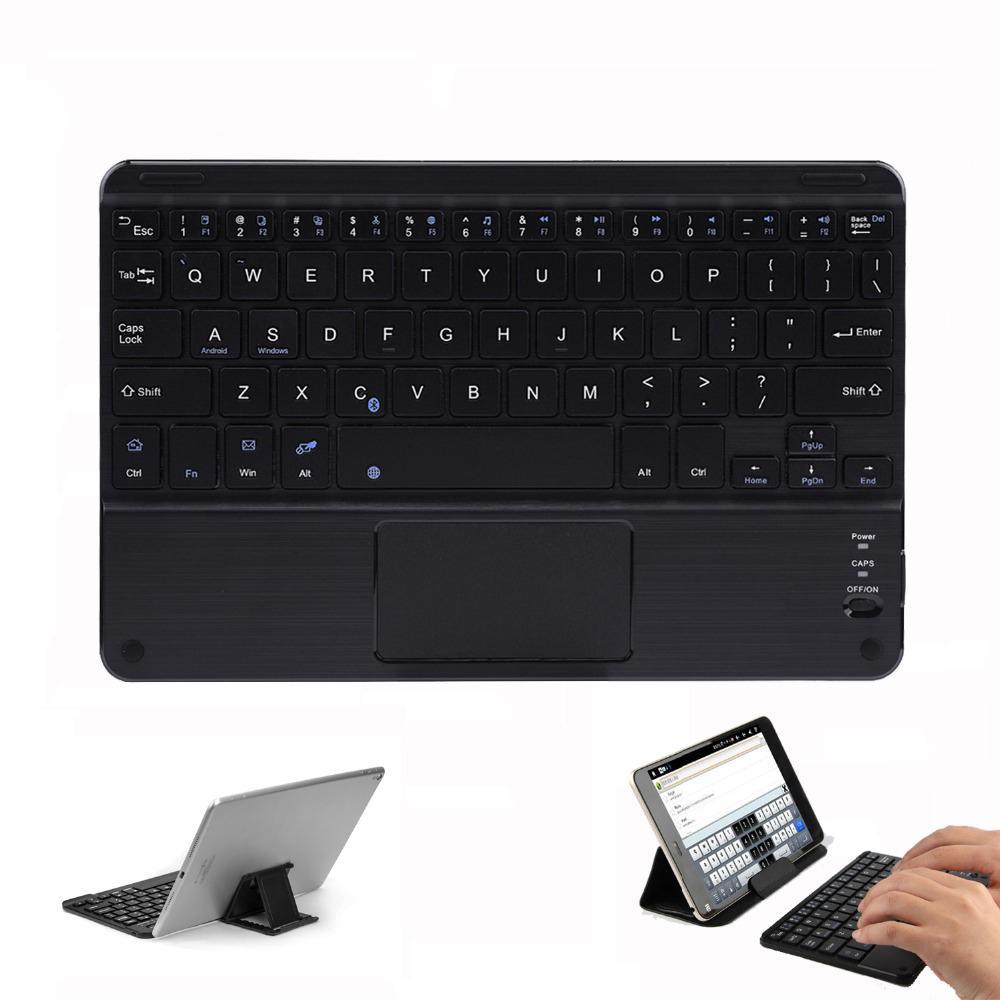 لمس لوحة المفاتيح بلوتوث اللاسلكية للحصول على الروبوت الكمبيوتر اللوحي المحمول العالمي المحمولة مصغرة لوحة المفاتيح بلوتوث لاسلكية مع لوحة اللمس DS04333