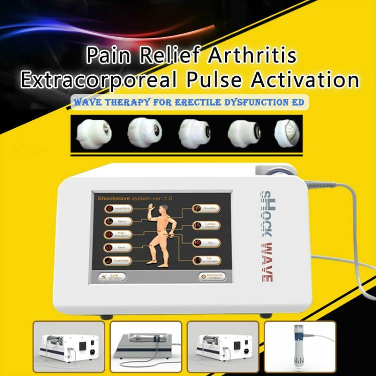 2019 Neue tragbare Stoßwellentherapiegeräte mit niedriger Intensität von Gainswave / Akustische Radialstoßwellenmaschine für ED für den Schönheitssalon