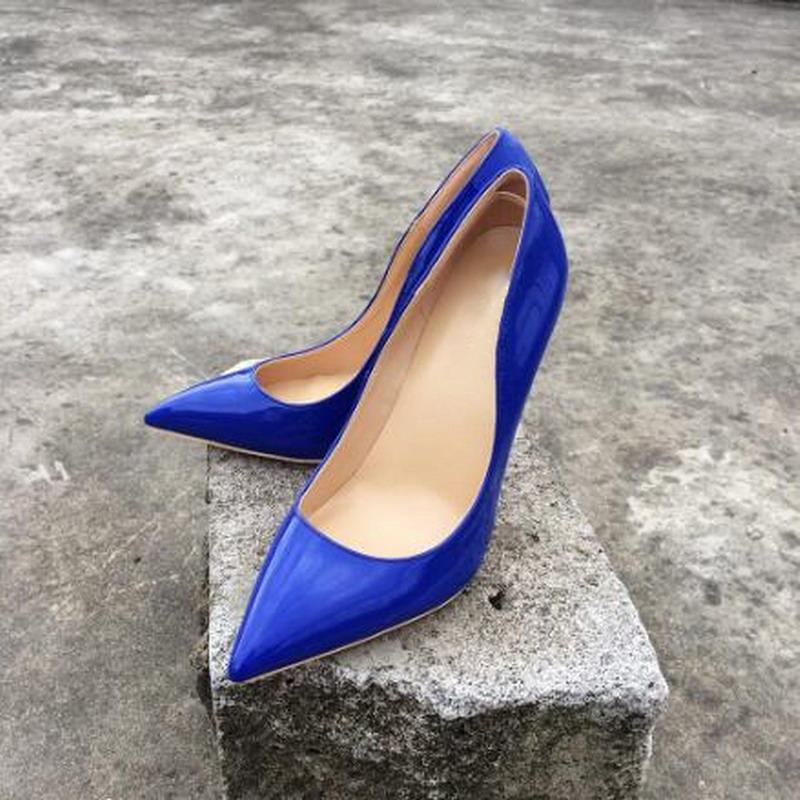 Hot Sale Royal Blue Patent Leather