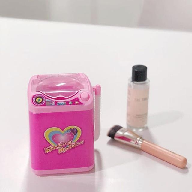Ресницы мини-машина Мини Электрические щетки Стиральная машина Портативный Автоматический смазливая Cosmetic Powder Puff чистого макияжа очищающее устройство