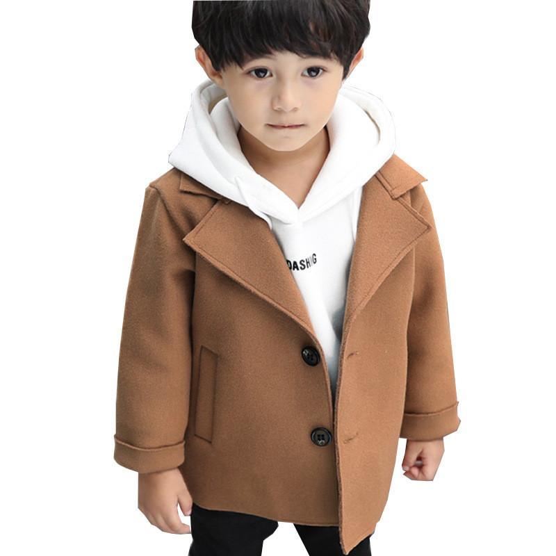 Autumn Winter Little Girls Coat Windbreaker Kids Clothes Toddler Wool Boys Coats Baby Outerwear Girls Jackets Children Clothing