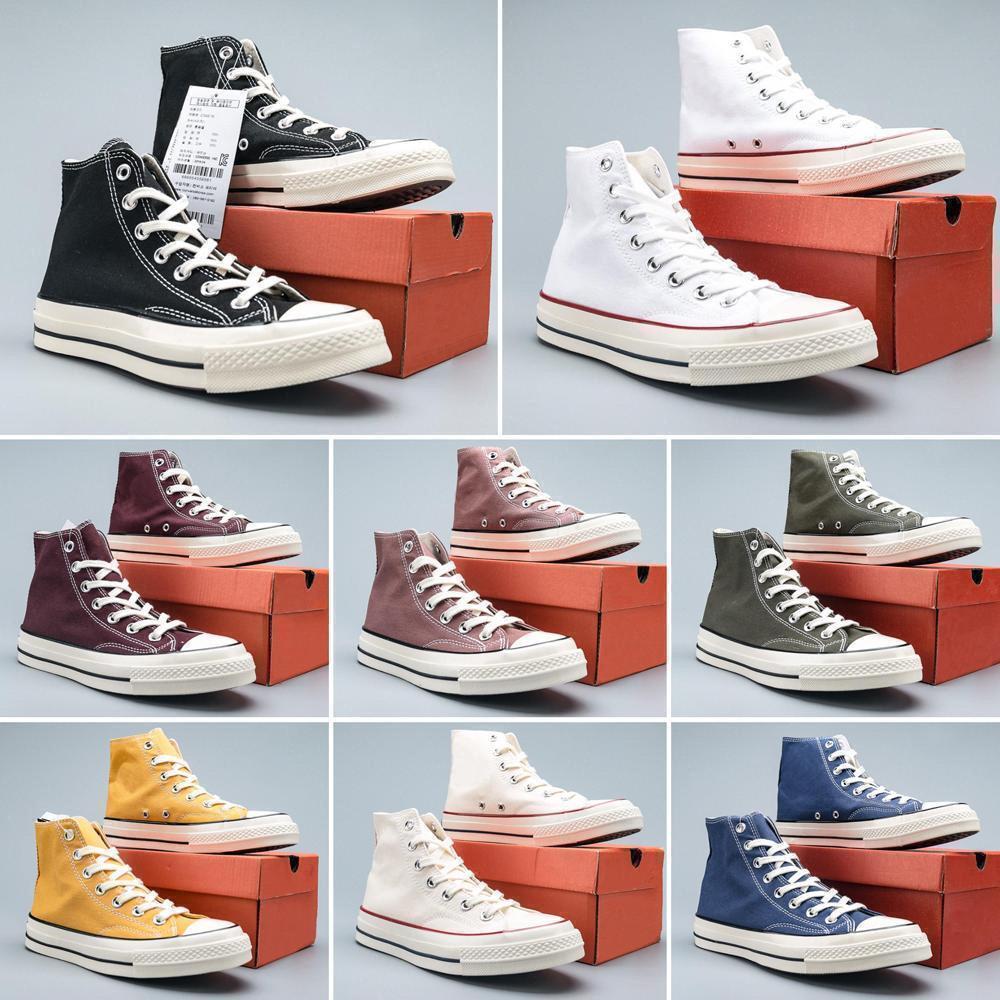 Бренд 2020 горячая новая мода 1970-х звездочный отель Высокий Верх низкая Верхняя черный 1970 классический холст обувь скейтборд кроссовки Мужчины Женщины свободного покроя Shoes1f19#