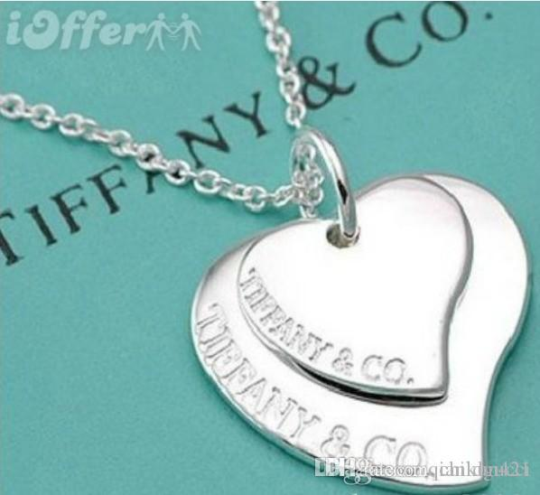 2019 Fashion Classic Rotate Dancing + Stone brand tiff925 Sterling Silver Pendant Necklace For Women Fashion Jewelry Gift For Love
