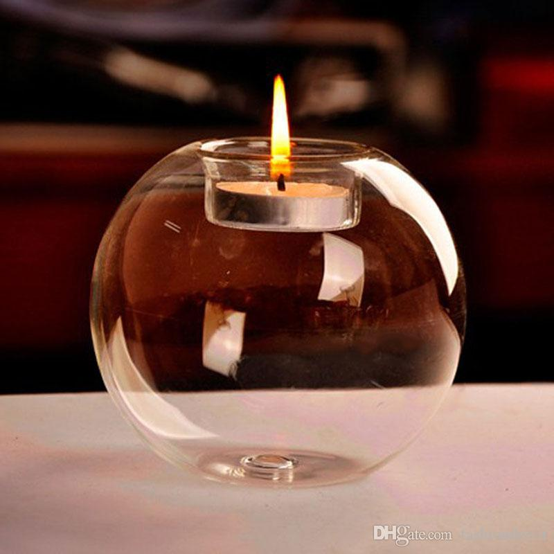 Free shiping Portable Hot Sale Classic Crystal Glass Candle Holder Wedding Bar Party Home Decor Candlestick