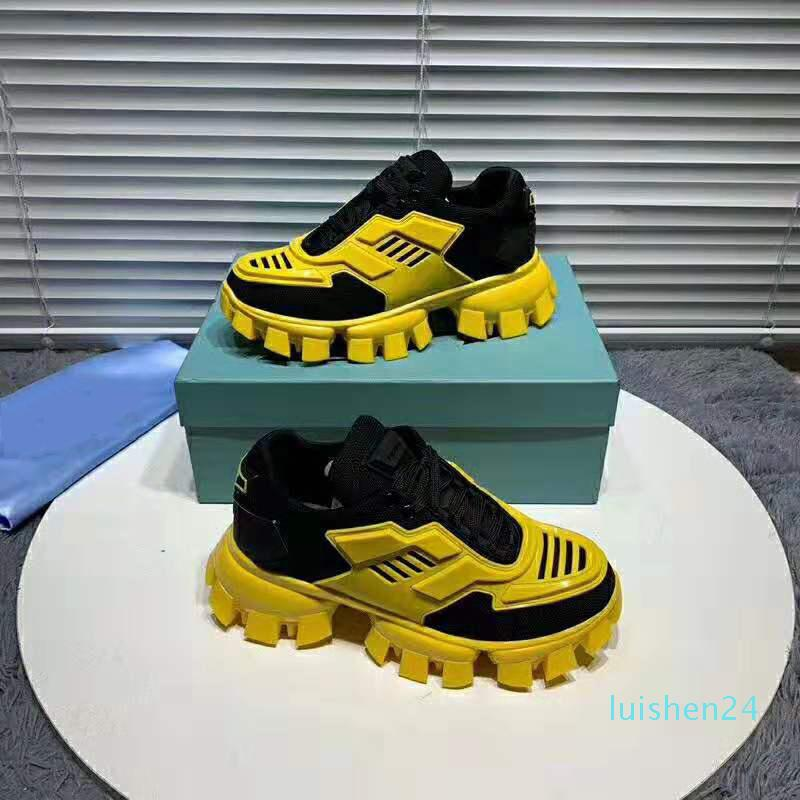 New Fashion Designer Shoes Cloudbust de Thunder Low Top Outdoor Mesh Hommes Femmes Noir Sole Chaussures Yellow Chaussures Casual L24