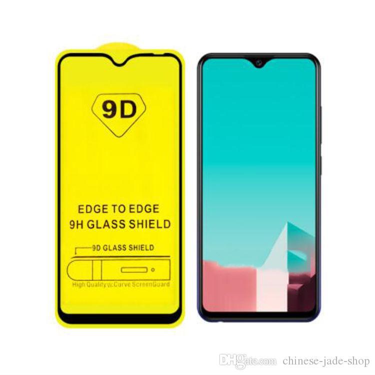 Cubierta completa 6D 9D Protector de pantalla de vidrio templado AB Pegamento completo para Samsung Galaxy A9 2018 A6S A7 2018 A750 J7 PLUS A9 2019 200PCS / LOT