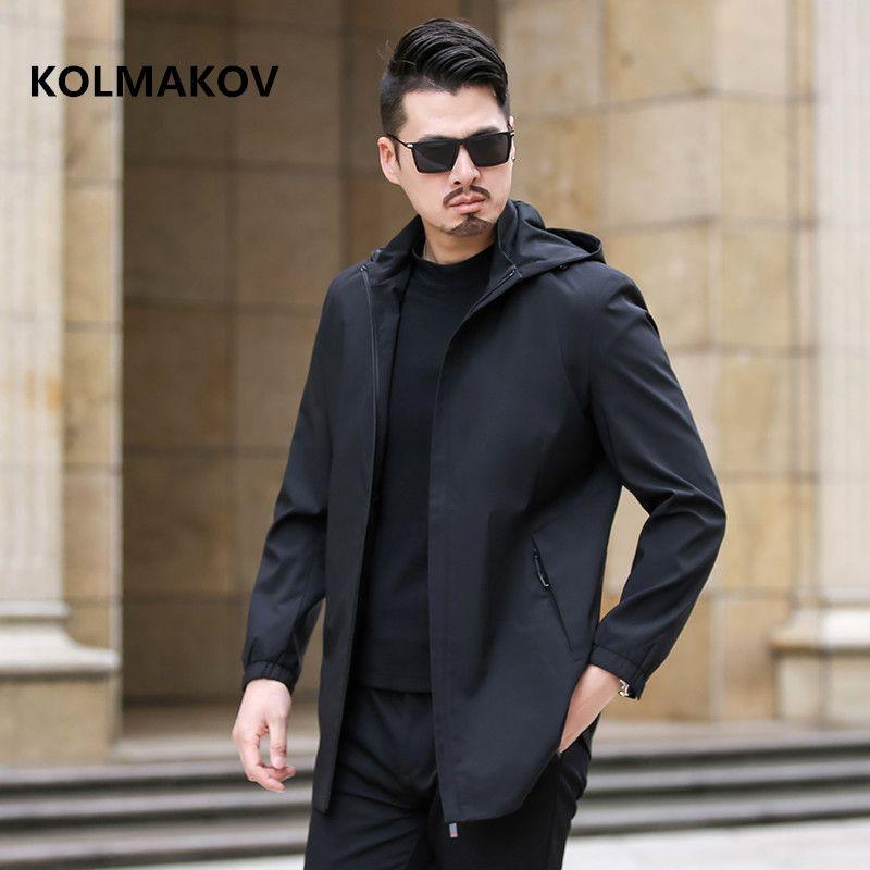 2019 Men's fashion Business trench coat mens casual coats jackets Classic Hooded Overcoat men windbreak size M to 5XL,6XL