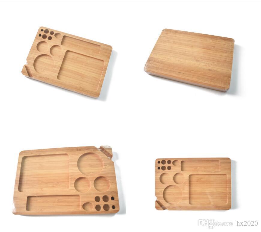 나무 롤링 충전 트레이 논문 다시 플립 마그네틱 흡연 담배 대나무 나무 상자 단일 레이어 JXW604