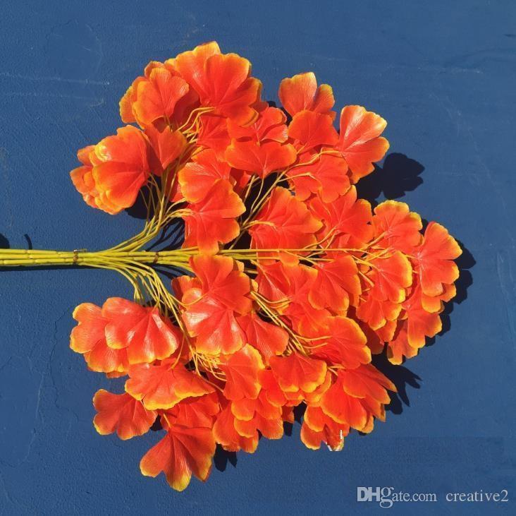 Künstliche orange Ginkgo Biloba Blatt Blätter Hochzeit Garten Favor
