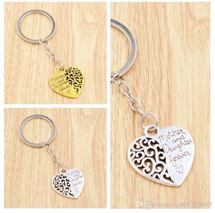 SimplePersonality Hollow Love Heart Keychain Fashion HandBag Pendant Key Holder Charm Cute Car Key Ring For Women Gifts