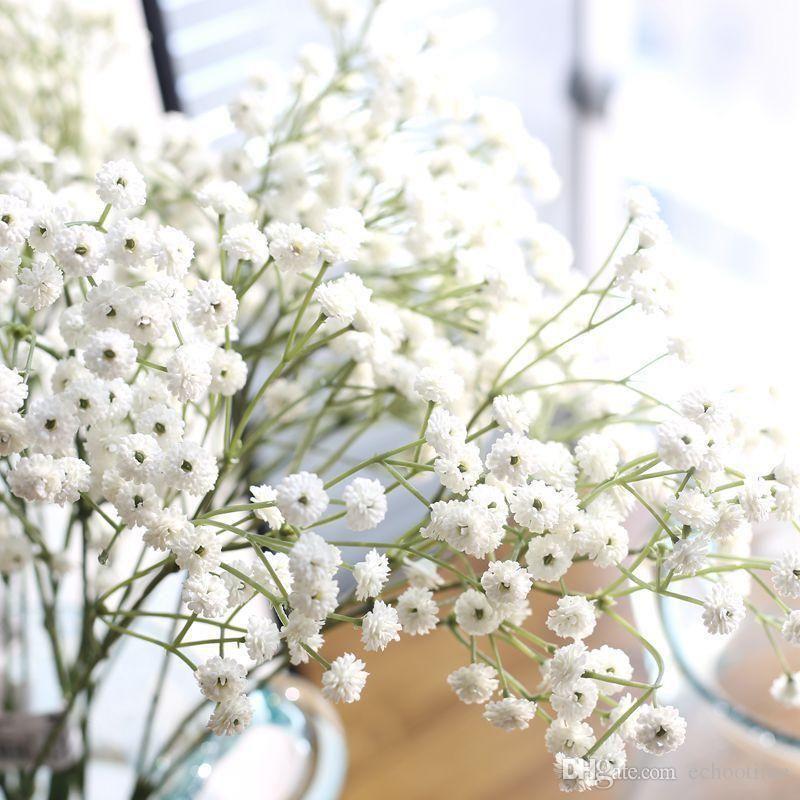 Flor Gypsophila planta Falso Silicone respiração de 90 Chefes DIY Artificial do bebê para Casamento Casa decorações do partido 7 Cores