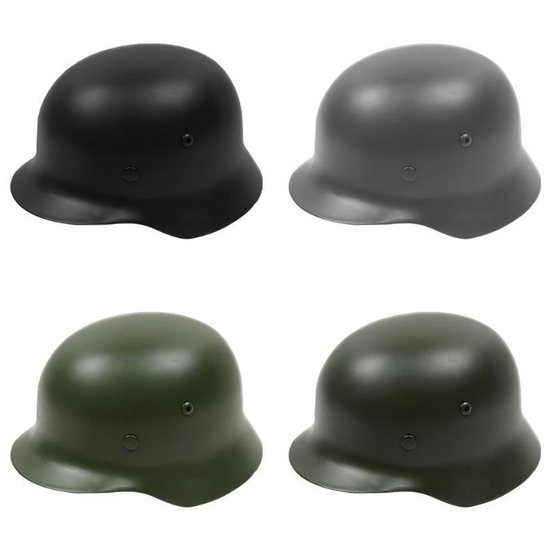 M35 Steel Helmet Protective Helmet Stainless Steel With Leather Lining For Men German War Hard Hat Outdoor Activities