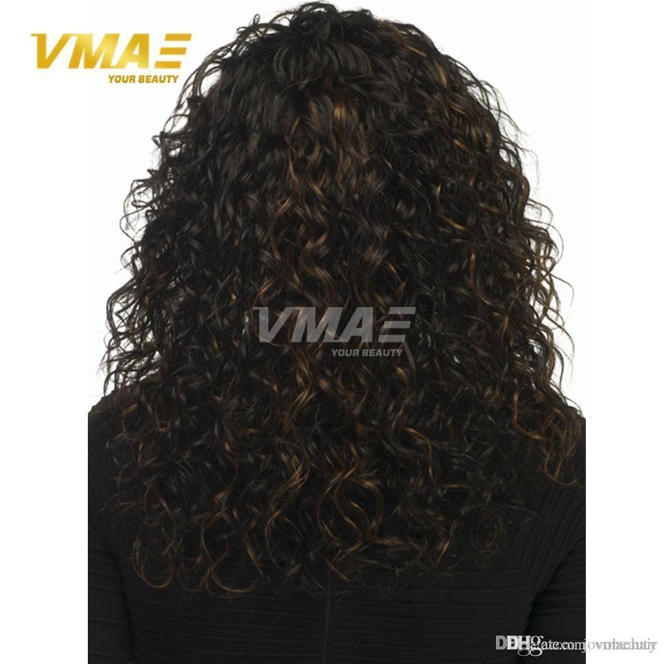 Длинные натуральные волны чистый цвет человеческих волос парики Сексуальная мода длинные волны Леди синтетические волосы парики 130% плотность наконечник цвет человеческих волос opp