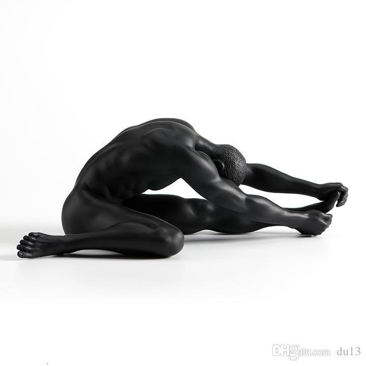 moderne masque nu mâle meurt hommes masculin nu art étoile décoration sculpture créative de gymnastique nue art mâle