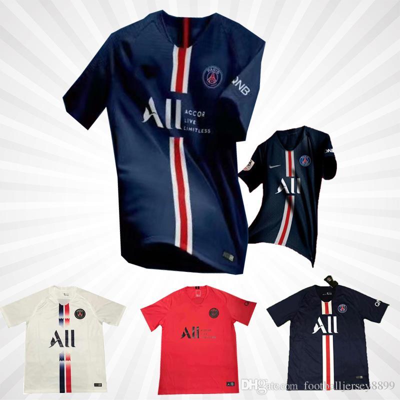 Acquista 2019 2020 PSG Maglia Terza Maglia Calcio MBAPPE CAVANI VERRATTI Top Thailandia 18 19 20 Maglia Calcio Parigi KIMPEMBE Camiseta De Futbol A ...