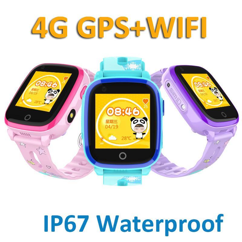 DF33 4G Smart watch Kids Video Call GPS WiFi Position Tracker SOS Camera IP67 Waterproof Baby Safe Watch VS A36E Y95