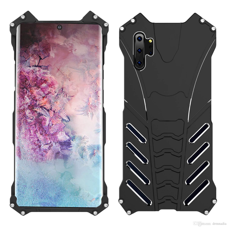 Ultra-léger robuste Militaire Antichoc En Aluminium En Métal Pare-chocs Cas Pour Samsung Galaxy Note10 S10 Plus S10e Note9 S9 Plus
