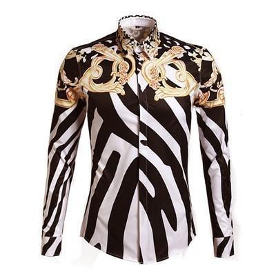 Harajuku tarzı yeni erkek / kadın 3D baskı gömlek zebra-şerit altın çiçek ceket beyzbol ceket güz / kış ceket C19041101