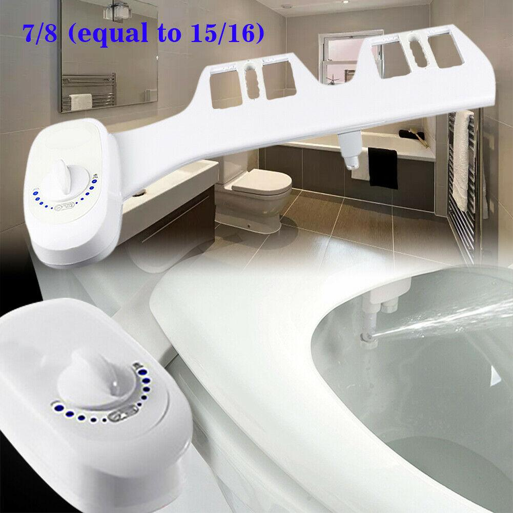 7/8 Toilet Seat Attachment Bathroom Water Spray Non-Electric Mechanical Bidet Dual Nozzles Fresh Water Spray Hygienic