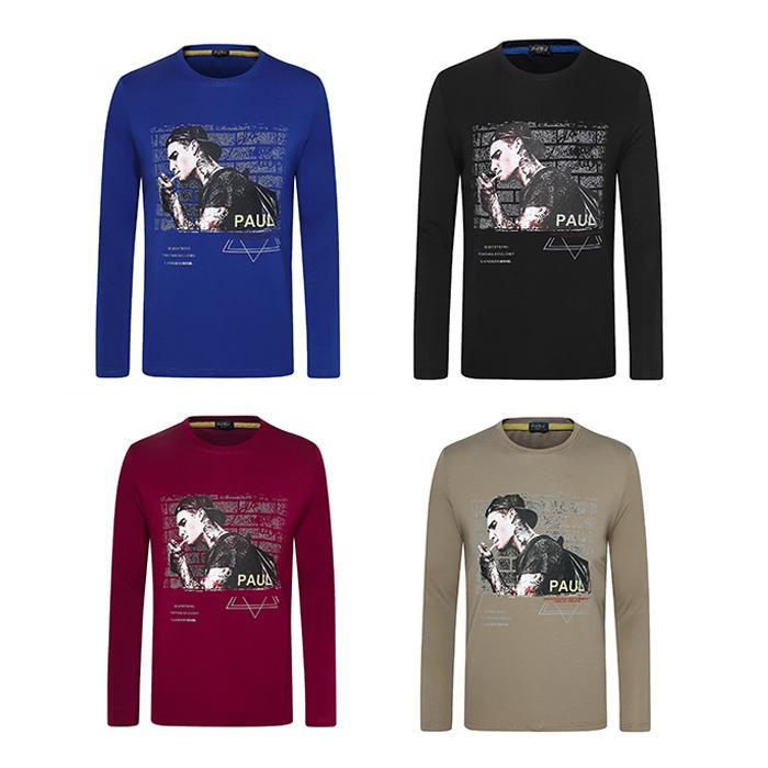 Tide Nueva camiseta de la primavera y el otoño de deporte de los hombres de la cabeza con el cuello redondo Casual Patrón Deportes Chaqueta cómoda de la manera Parkashoodie