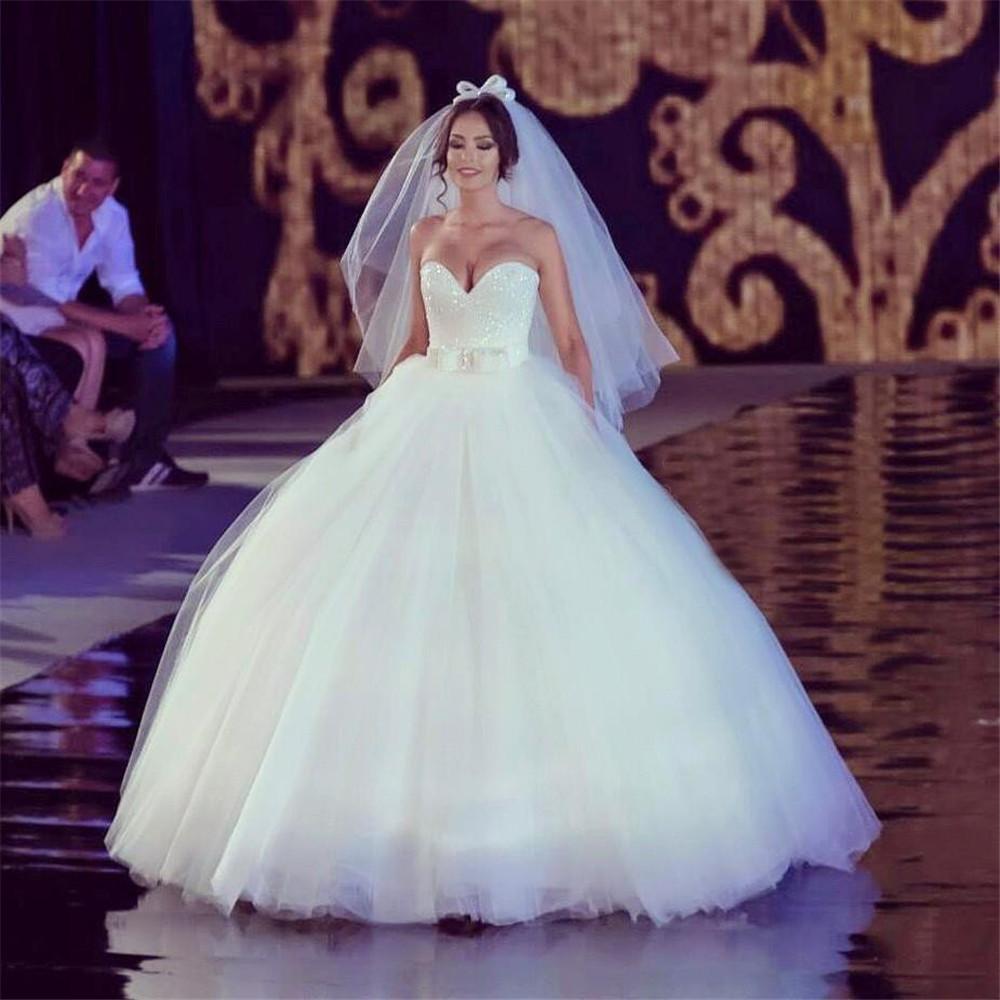 Sexy Docinho Tulle vestido de baile Vestidos de casamento com bowknot cintura vestidos de noiva Lace Up Voltar Custom Made Robe Formal Europeia Moda