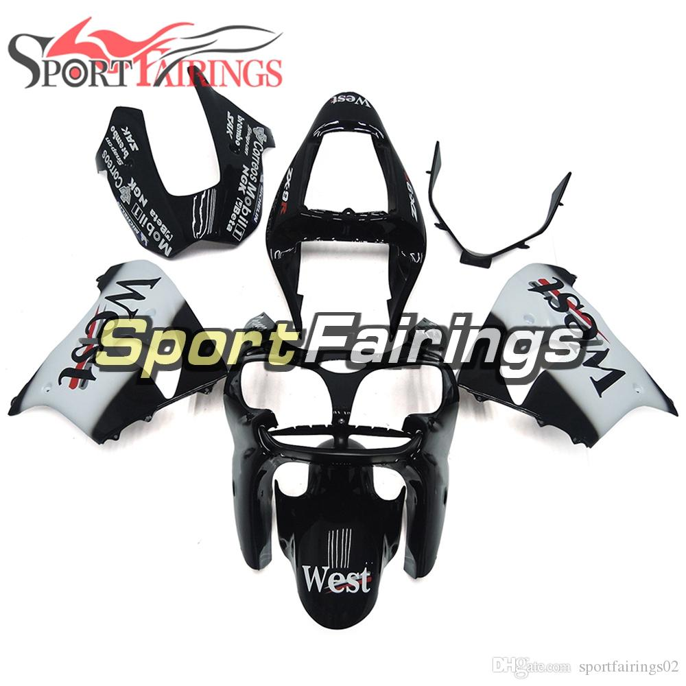 White Black Fairings For Kawasaki ZX9R 2002-2003 ABS Plastic Motorcycle Bodywork Body Kit Cowlings Body Kit Body Frames Covers