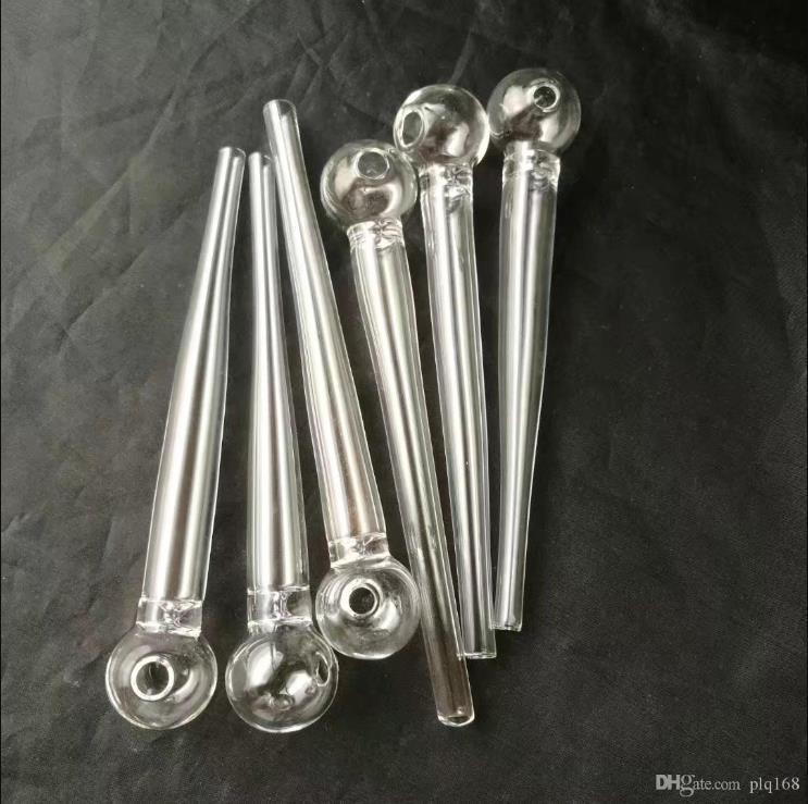 de tubo delantero transparente al por mayor Bongs quemador de aceite Tubos Tubos de agua de tuberías de vidrio plataformas petrolíferas fumadores envío