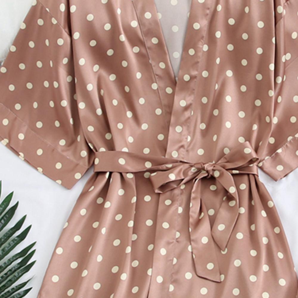 Accappatoio raso 2019 del signore delle donne sexy estate + Abito Notte Imposta seta da notte Robe Abbigliamento intimo da sposa casuale Home Abbigliamento
