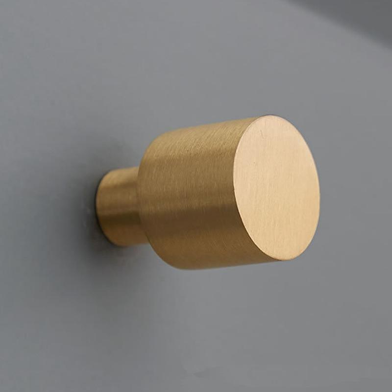 Latón cepillado del oro sólido del gabinete de cocina pomos y tiradores de muebles cajón de la cómoda perillas Armario de puertas Tirador envío libre