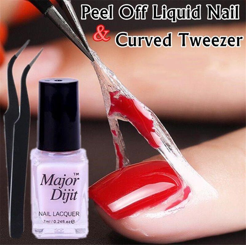 Descolar Protective manicure polonesa protegido Easy Clean rápido Dedo pele Liquid Gel Tape Nail Care Ferramenta pinça