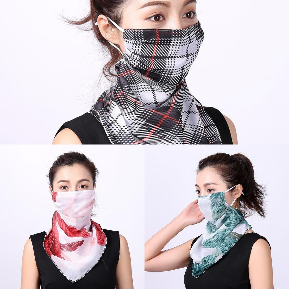 by0BY criativa face Scarf Máscara Verão Sun Elegante Proteção Pescoço Gaiter respirável equitação lenço no pescoço para fora ao ar livre (Averag
