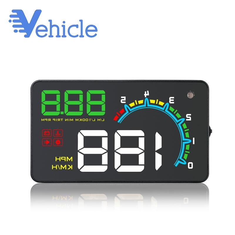 Araç OBD OBD2 head up ekranı D3000 Araba Projektör Dijital Kilometre head up ekranı HUD D3000 Hız Güvenlik Alarmı