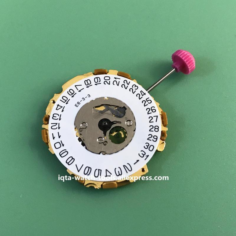 NOUVEAU Japon Miyota 9U13 Quartz Mouvement Date à 3 date à 6 Sans batterie Remplacer réparation