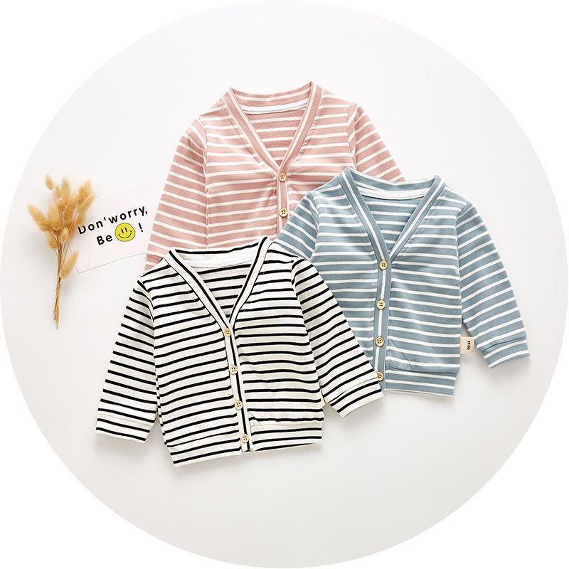 2019 New Spring Autumn Summer Infant Bambini Baby Boy Girl Abbigliamento Cotone manica lunga Cardigan Top Tuta Sportiva Giacca Coat Vestiti