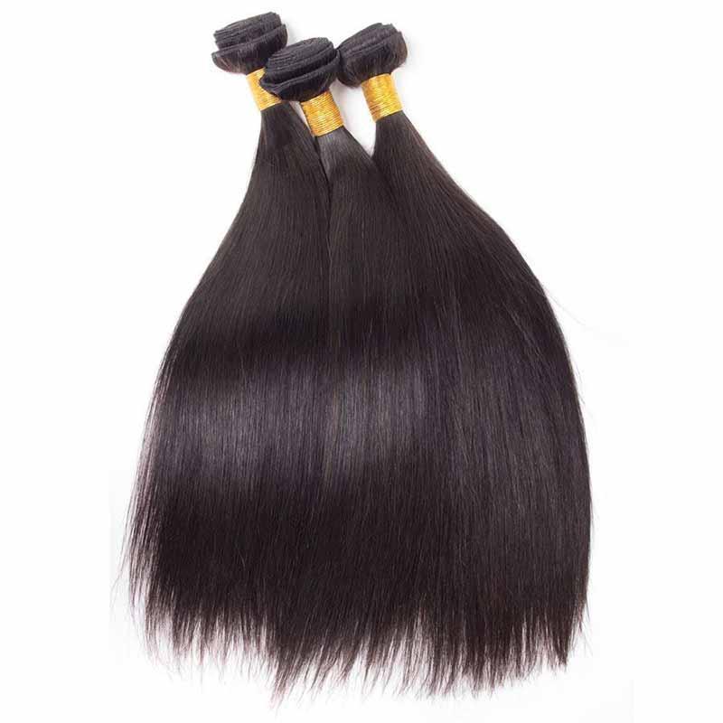 Unprocessed Brazilian Human Hair 8A Peruvian Indian Malaysian Virgin Human Hair Straight Hair Extensions 3pcs/lot For Black Women DHL