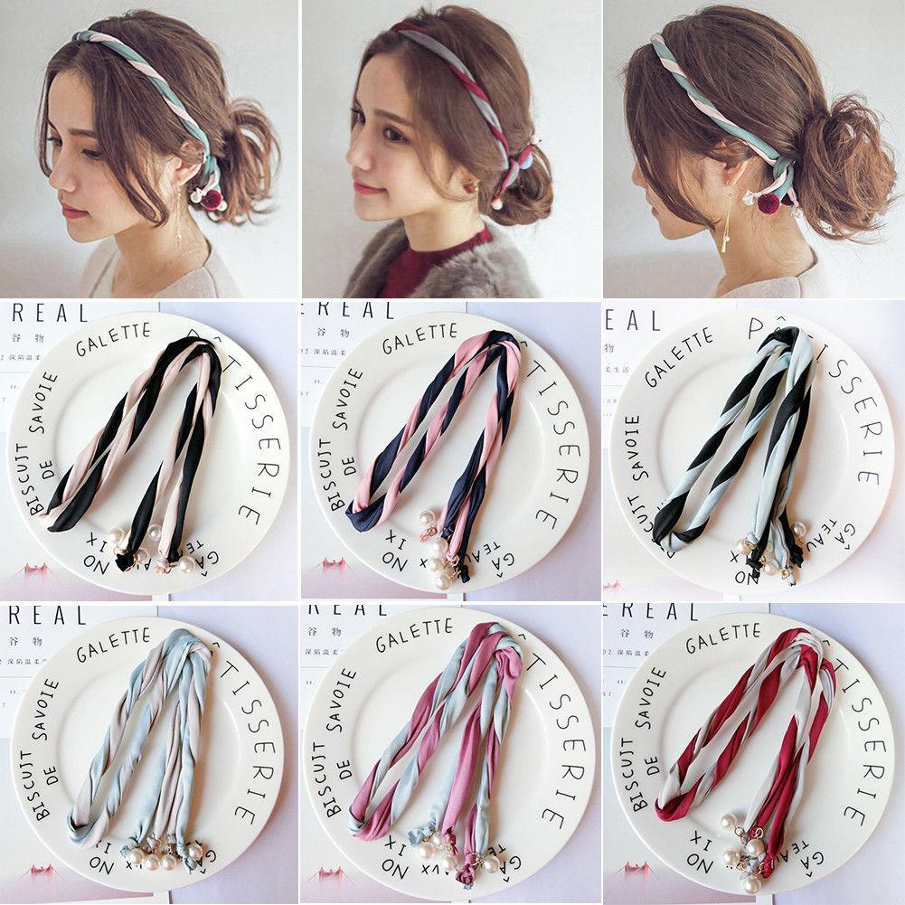 Women Girls Headband Twist Hairband Bow Knot Cross Velvet Headwrap Hair Hoop