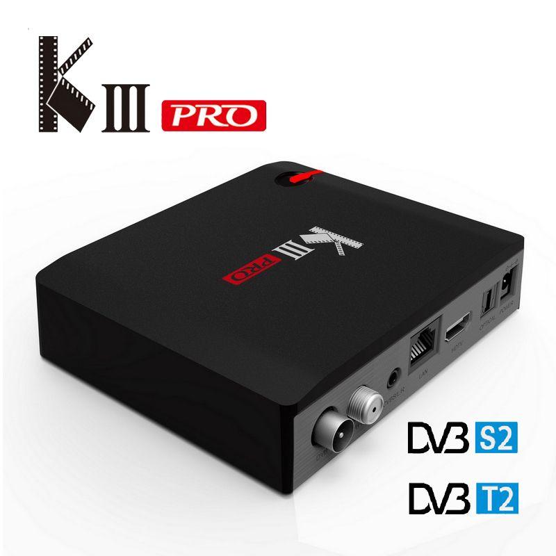 MECOOL KIII PRO DVB-T2 S2 TV BOX S912 3G 16G 802.11AC WIFI Bluetooth 1000M LAN Media Player