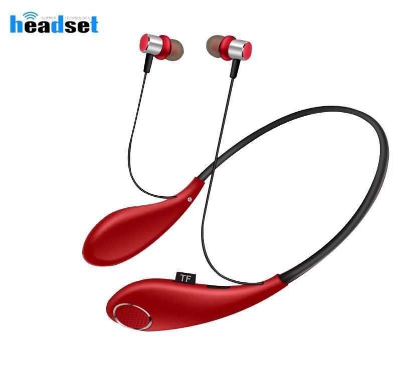 2 в 1 Wireless Bluetooth наушников Динамик АКЗ-T55 СПЦ шейным Беспроводные наушники Динамик для Samsung Huawei