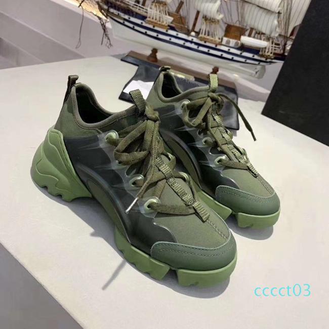 Kadınlar bağbozumu eğitici Klasik siyah neoprenevacuum Taban Artış 5CM Çiçek Üçlü S Baba CT3 için en iyi Tasarımcı Ayakkabı Bağlan sneaker