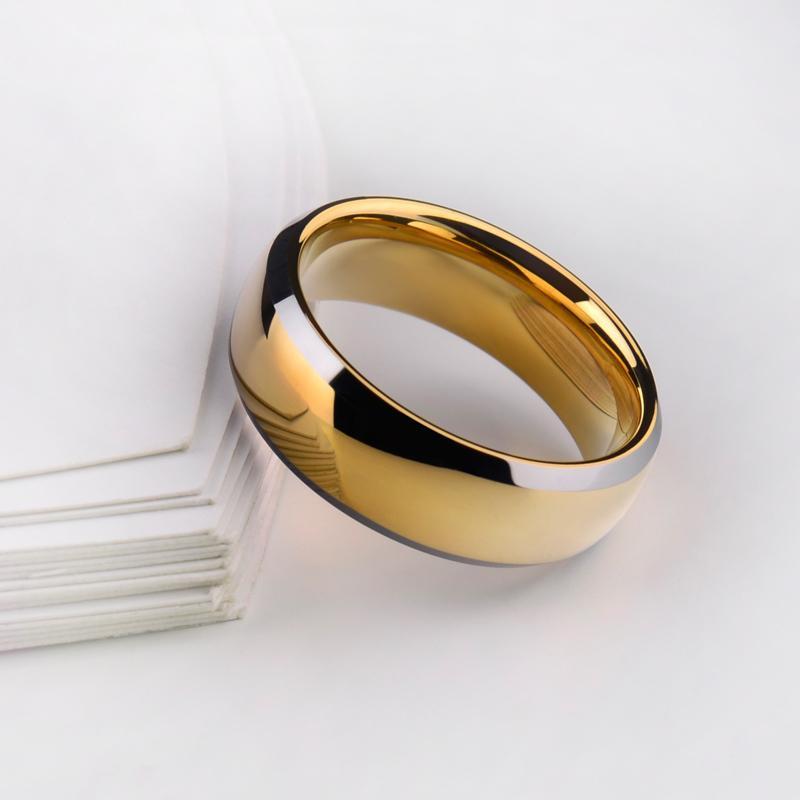 حار بيع الذهب تصفيح الرجل خواتم صلابة كربيد التنغستن الراحة صالح باند مع شحن مجاني الحجم 7-11 C18122801