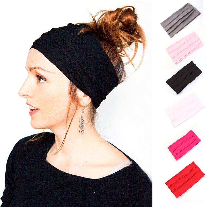 Klassische Mode Mode für Männer und Frauen faltig Haarbänder, europäischen und amerikanischen Mode-Schmuck Mütter Stirnbänder Großhandel