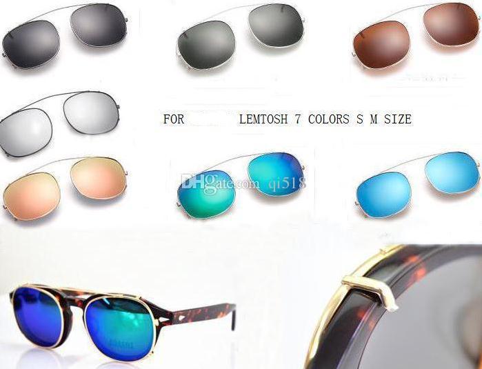 New Designer S L size 7colors lemtosh cliptosh sunglasses lenses myopia frames Flip Up polarized lens clip-on clips eyewear