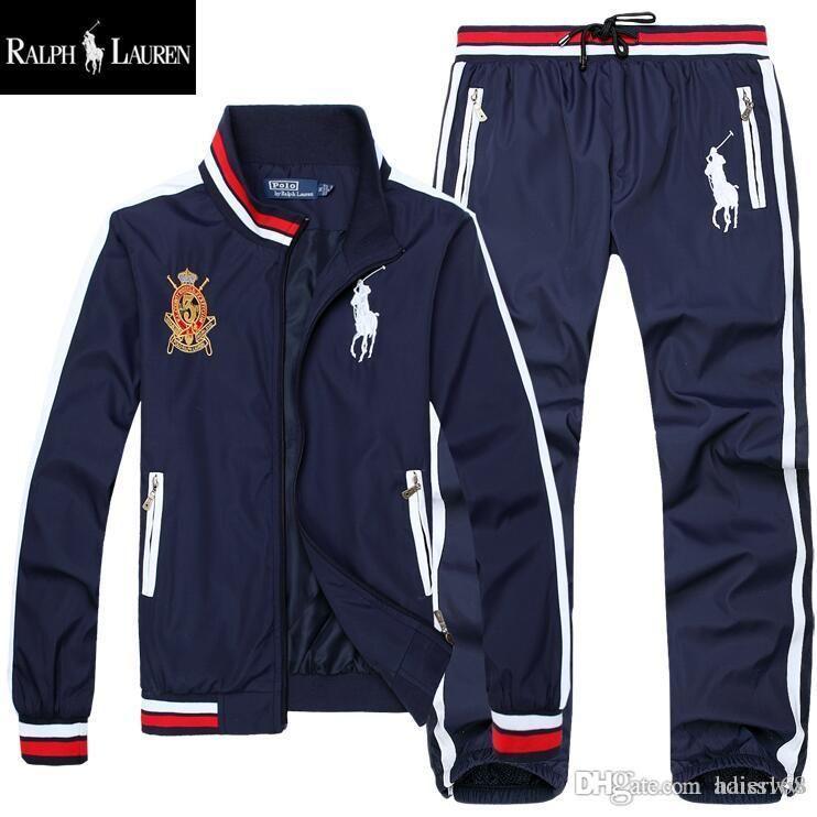 Polo Jacket Men's Hoodies and Sweatshirts Sportswear Man pants Jogging Jogger Sets Turtleneck Sports Tracksuits Sweat Suits 3COLOR