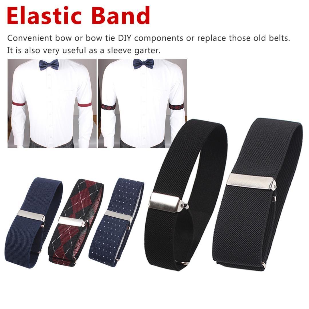 Adjustable Elastic Shirt Sleeve Garter Holder Stocking Garter Armband White