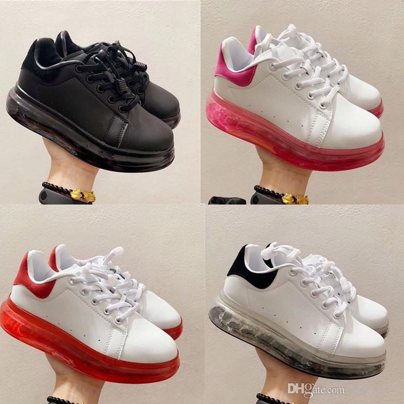 Zapatillas para niños para niños Zapatillas ópticas clásicas Blanco Blanco Black Casual Cusion Trainers Boy Girl Children Fashion Sneakers