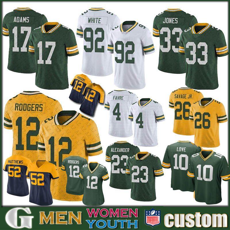 12 Aaron Rodgers YeşilDefneÖzel Erkek Bayan Çocuk PackersFutbol Formalar 20 Kevin Kral 87 Jordy Nelson 26 Savage Jr 10 Aşk