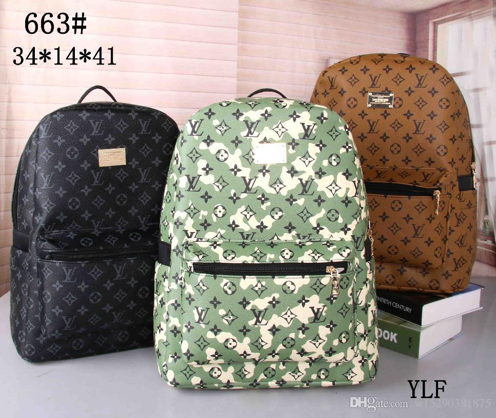 핫 판매 클래식 패션 가방 브랜드 여성 남성 배낭 스타일 가방 어깨 핸드백 여행 등산 가방 디자이너