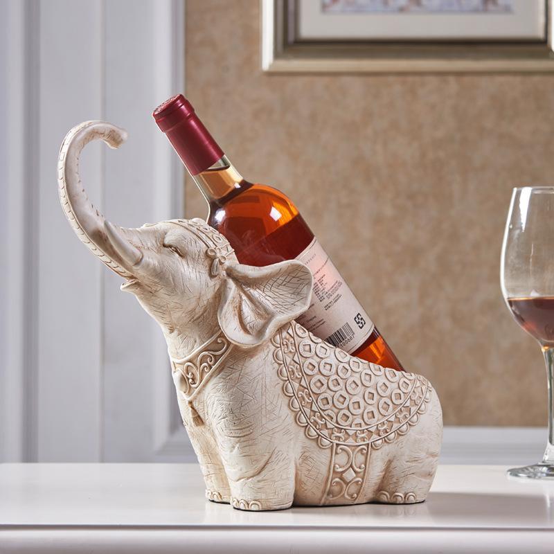 Şarap şişesi tutucusu reçine Fil Avrupa tarzı ev geliştirme şarap raf yaratıcılık rafı Dekorasyon Sahipleri