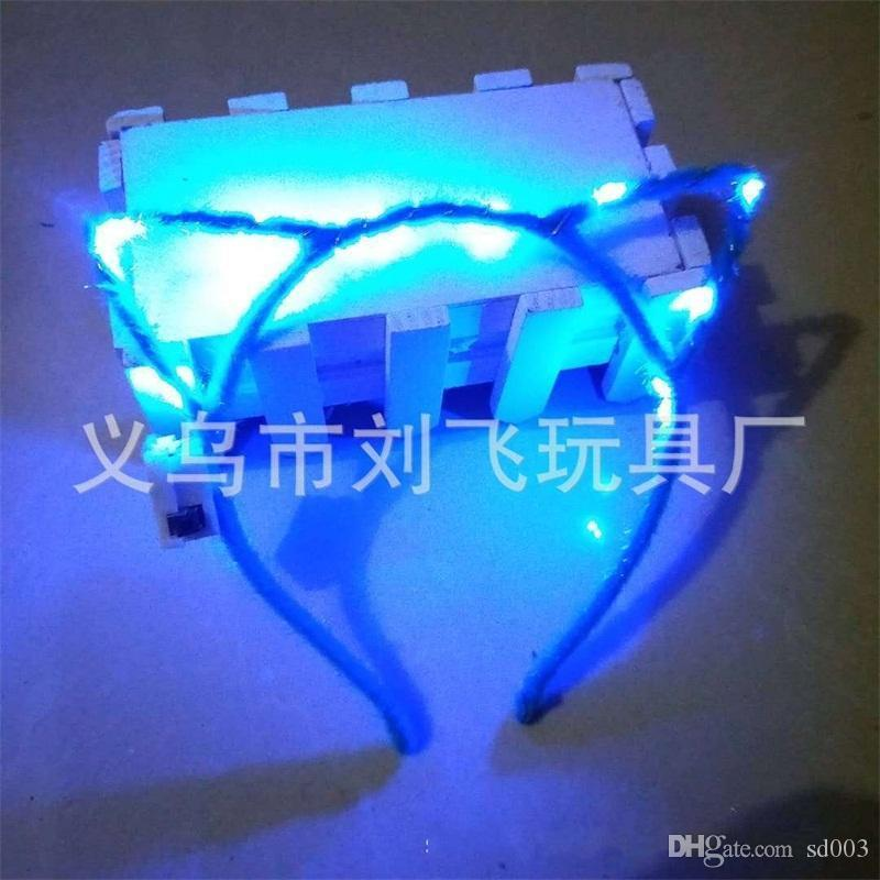 Led Light Up Toys Hair Hoop Girl Rabbit Ears Headband Opp Packing Cartoon Hairs Band Sell Well With High Quality 1 7lf J1