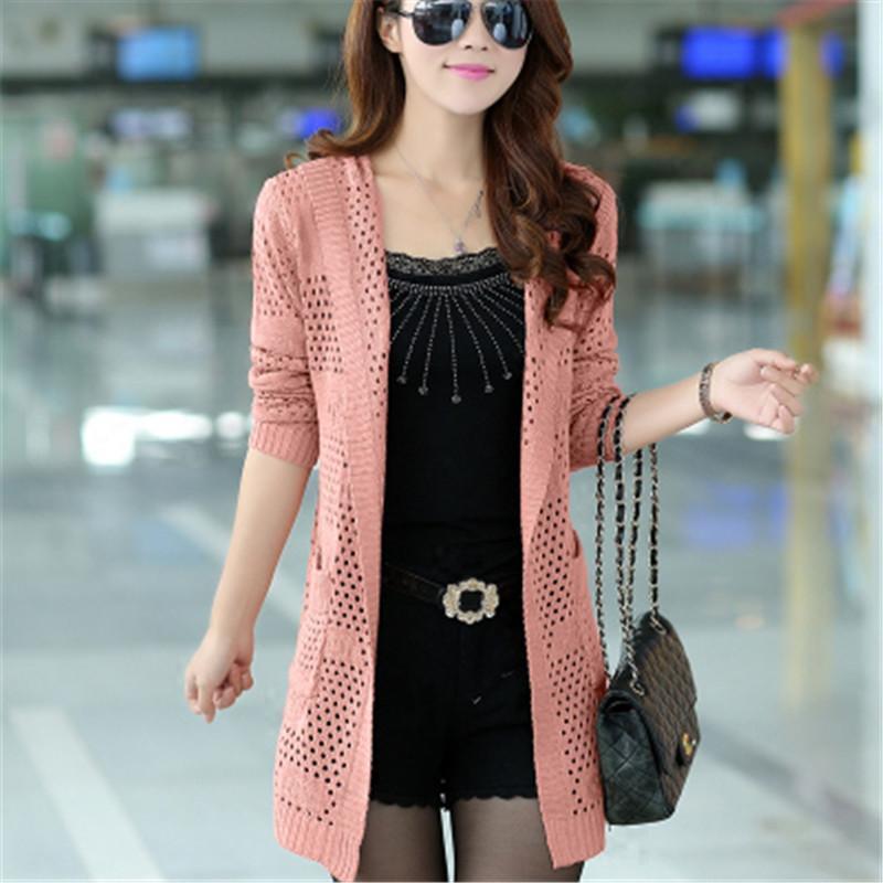 2019 Spring Women Hooded Cardigan Female Long Sleeve Knitted Cardigans Feminino Tops Plus Size Pocket Cardigan tops PZ1545